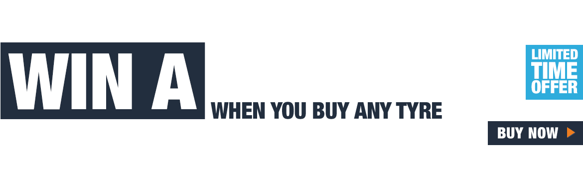 Win a £250 Amazon voucher when you buy any tyre