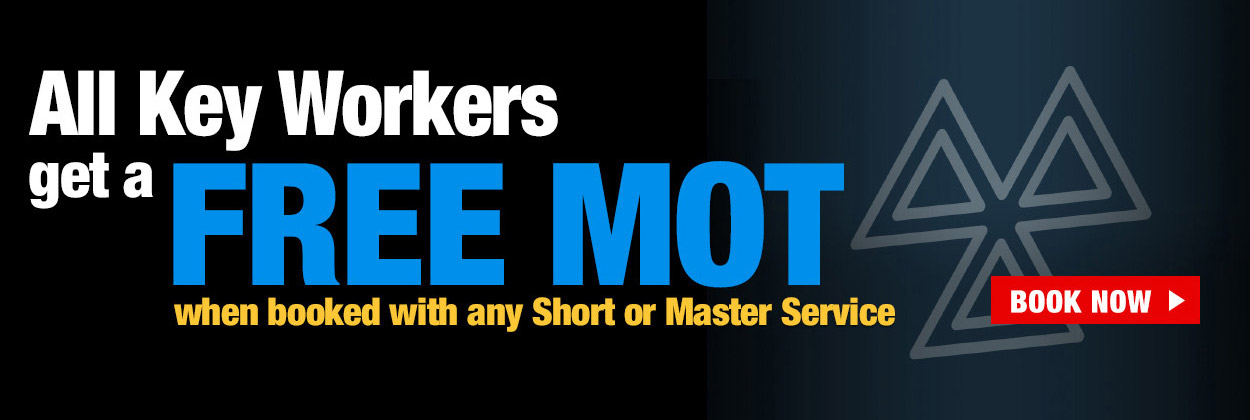 All Keyworkers get a free MOT when booked with any service