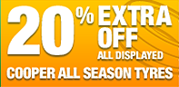 £10 extra off all displayed Cooper tyres prices