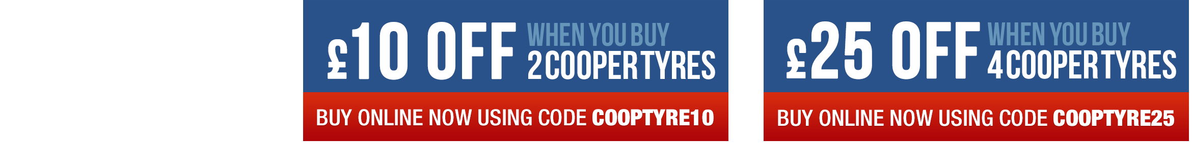 Great offers on Cooper Tyres