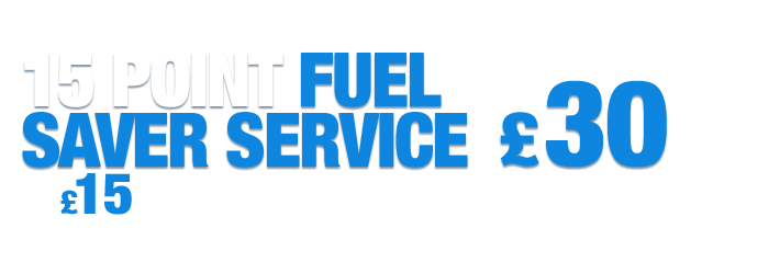 15 Point Fuel Saver Service only £15 when booked with any Short or Master service.