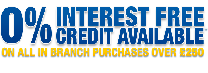 0% Interest Free Credit Available