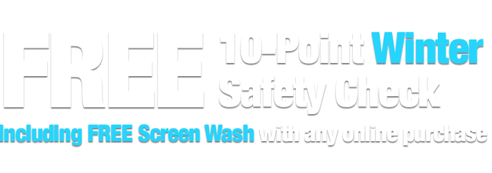 Free 10-Point Winter Safety Check including FREE Screen Wash with any online order