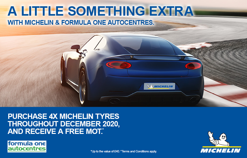 Buy 4 or more Michelin tyres to get a free MOT
