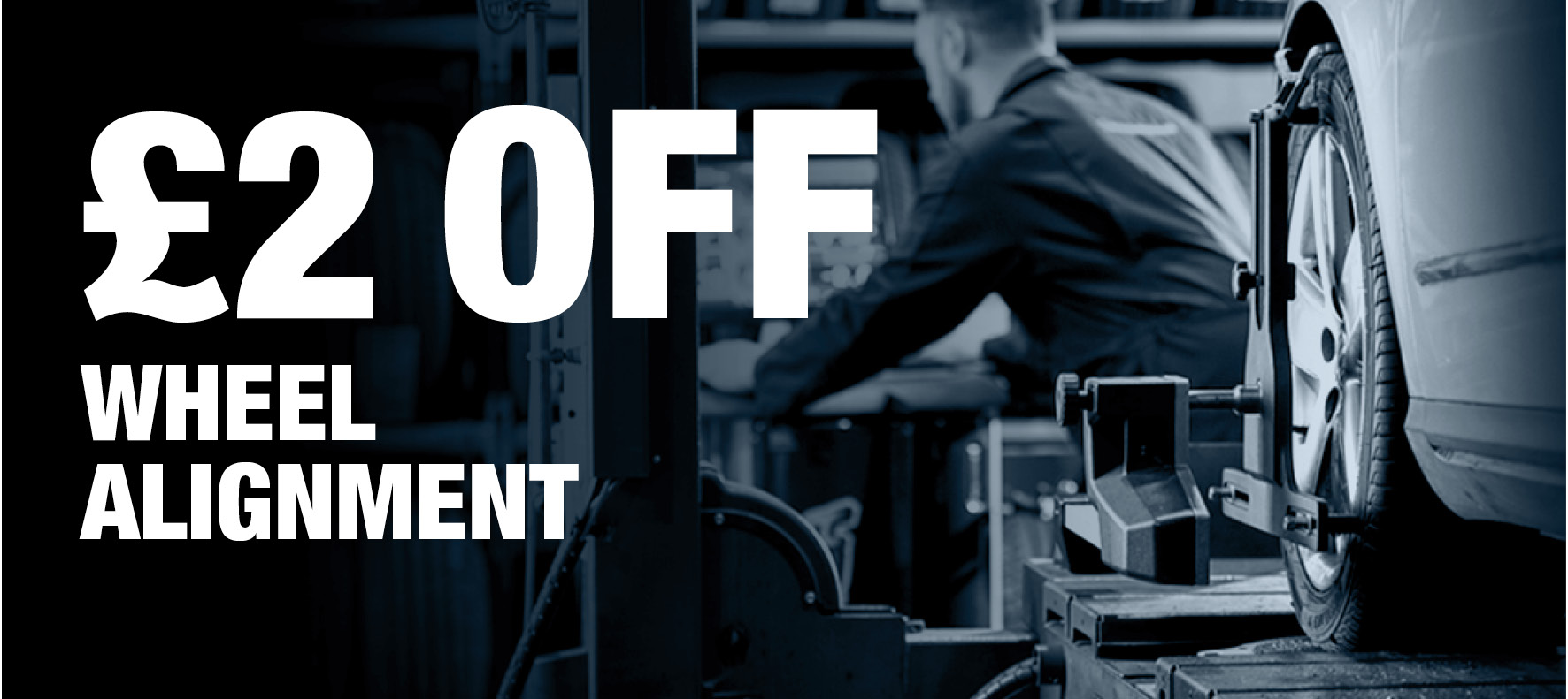 Save £2 on Wheel Alignment at Formula One Autocentres