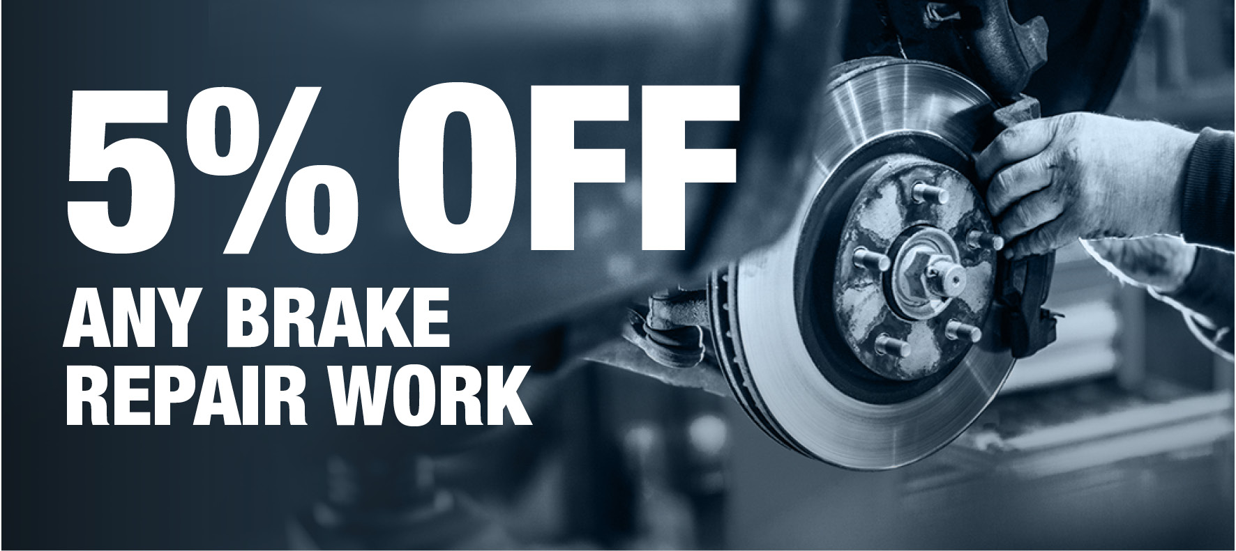 Save 5% on Brake Repair Work at Formula One Autocentres