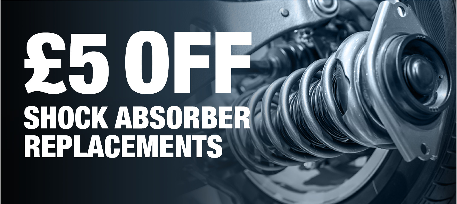 Save £5 on Shock Absorber Replacement at Formula One Autocentres